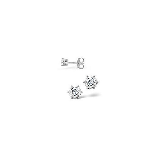 G/Vs Stud Earrings 0.30CT Diamond Platinum