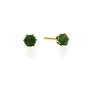 Photo of Emerald Earrings  Emerald 9K Yellow Gold Jewellery Woman
