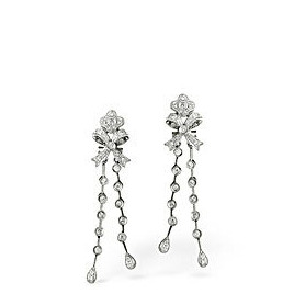 The Diamond Store Drop Earrings 0 54CT Diamond 18KW Reviews