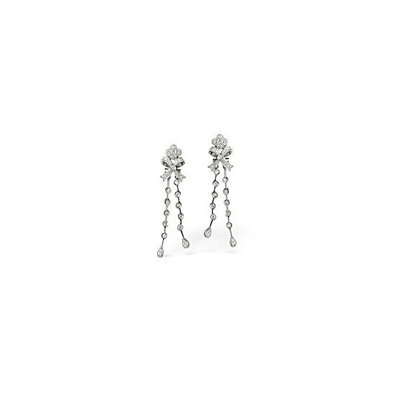 The Diamond Store Drop Earrings 0 54CT Diamond 18KW