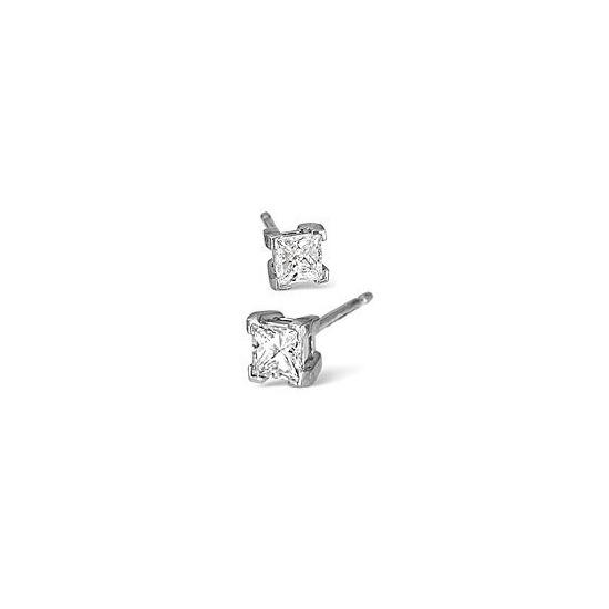 H/Si Stud Earrings 0.70CT Diamond In Platinum