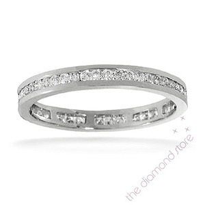 Photo of Rae Platinum H/Si Diamond Full Eternity Ring 0.50CT Channel Set Jewellery Woman