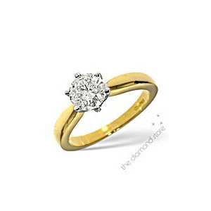 Photo of Best Value 1CT Solitaire Ring In 18K Gold Jewellery Woman