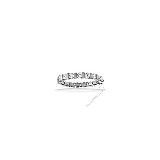 Hannah Platinum H/Si Diamond Full Eternity Ring 1.00ct With Bar