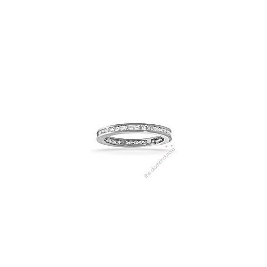 Lauren Platinum G/Vs Princess Cut Diamond Full Eternity Ring 0.50ct
