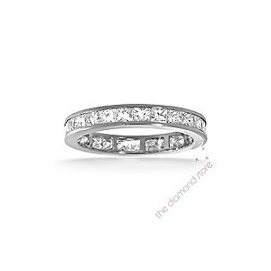 Photo of Lauren Platinum H/Si Princess Cut Diamond Full Eternity Ring 2.00CT Jewellery Woman