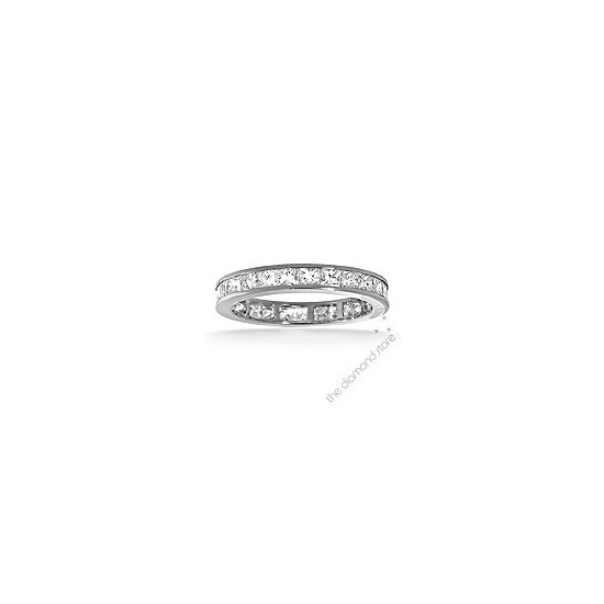 Lauren Platinum H/Si Princess Cut Diamond Full Eternity Ring 2.00ct