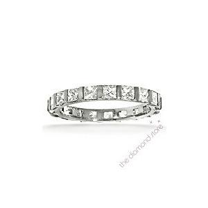 Photo of Olivia Platinum H/Si Princess Cut Diamond Full Eternity Ring 2.00CT With Bar Jewellery Woman