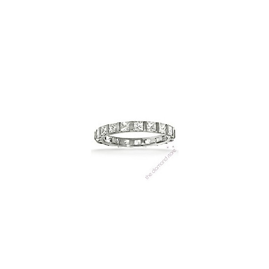 Olivia Platinum H/Si Princess Cut Diamond Full Eternity Ring 2.00ct With Bar