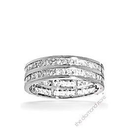 Holly Platinum G/Vs Princess Cut Diamond Full Eternity Ring 2ct 2 Row Reviews