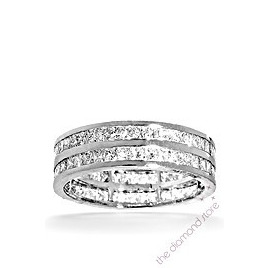 Holly Platinum G/Vs Princess Cut Diamond Full Eternity Ring 2ct 2 Row Reviews