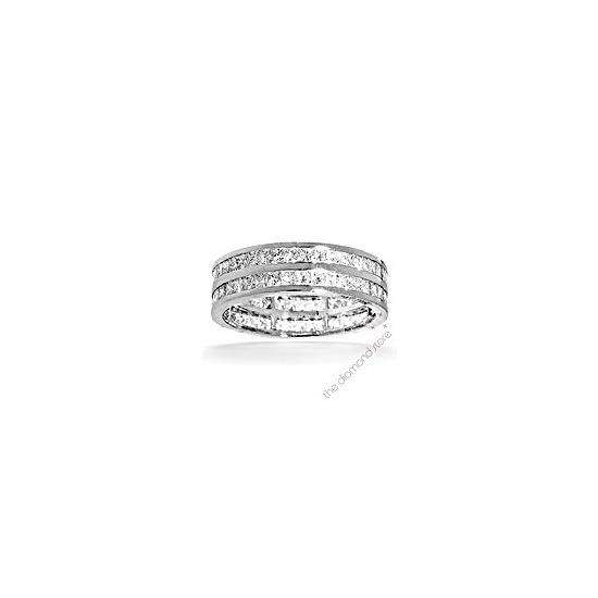 Holly Platinum G/Vs Princess Cut Diamond Full Eternity Ring 2ct 2 Row
