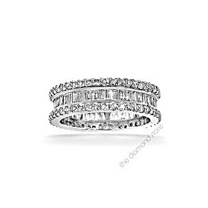 Photo of Katie Platinum g/Vs 1CT Baguettes and Rounds Diamond Full Eternity Ring Jewellery Woman