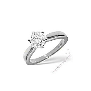 Photo of Best Value 1CT Solitaire Ring In 18K White Gold Jewellery Woman