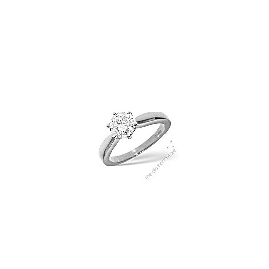 Best Value 1CT Solitaire Ring in 18K White Gold