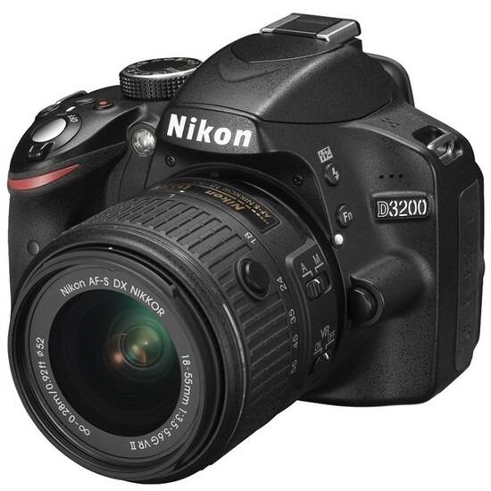 Nikon D3200 Digital SLR Camera with 18-55mm VR II Lens Kit (Black)