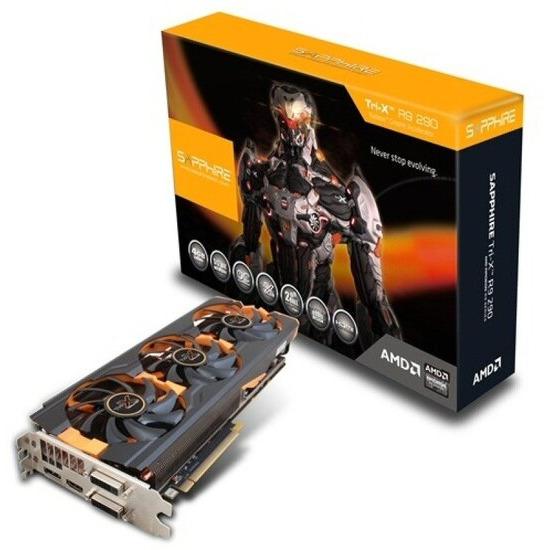 Sapphire R9 290 TRI-X OC 4GB GDDR5 Dual DVI Hdmi DisplayPort PCI-E Graphics Card