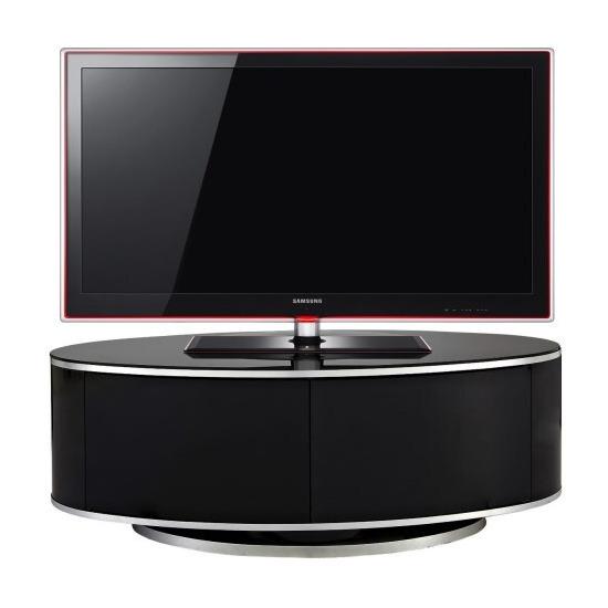 MDA Designs Luna Oval with Beamtru Doors TV Cabinet in Oak up to 50 inch