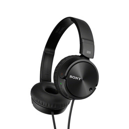 Sony MDR-ZX110NAB Noise-Cancelling Headphones - Black