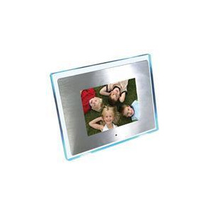 photo of 8 aluminium with blue led surround multi media digital frame digital