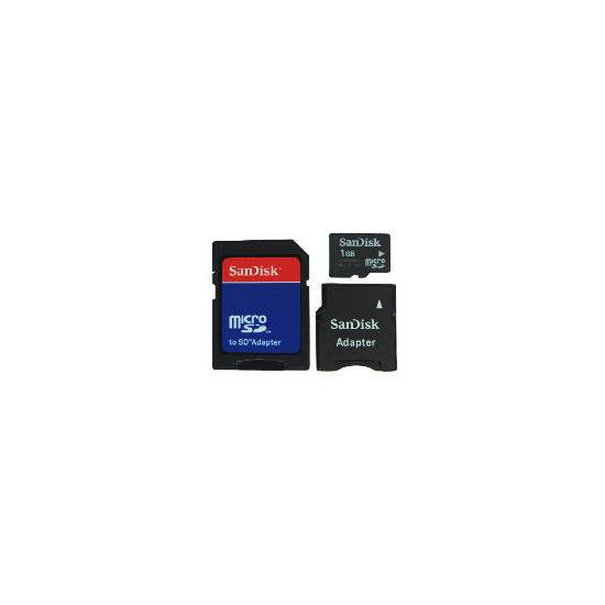 SanDisk Micro SD Mobile Memory Kit 1GB