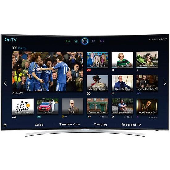 """SAMSUNG 48"""" Curved 3D Smart TV with HD & 2x 3D Glasses UE48H8000"""