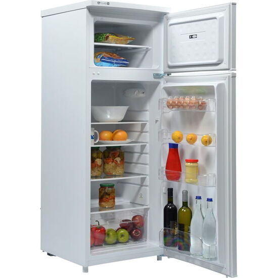 INDESIT 55cm Freestanding Fridge Freezer in Silver RAA28S