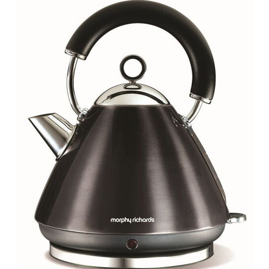 MORPHY RICHARDS Accents Pyramid Kettle in Black 43776