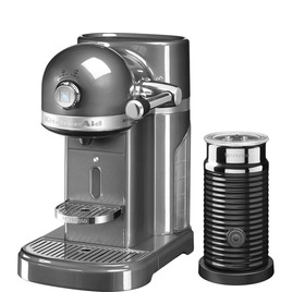 Kitchenaid Artisan Nespresso Hot Drinks Machine with Aeroccino 3 - Medallion Silver Reviews