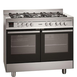AEG 49190GO-MN 100 Dual Fuel Range Cooker - Stainless Steel Reviews