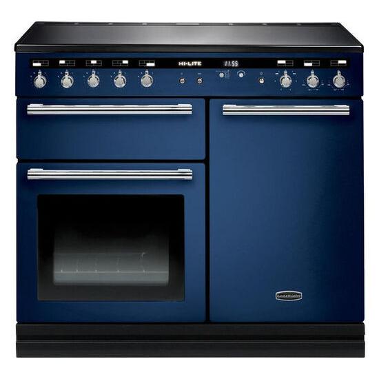 Hi-LITE 100 Electric Induction Range Cooker - Monaco Blye & Chrome
