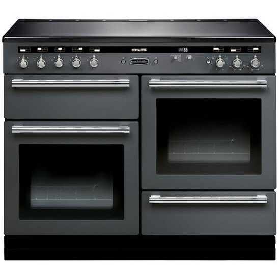 Hi-Lite 110 Electric Induction Range Cooker - Slate & Chrome
