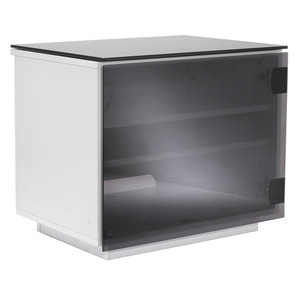 Photo of UK-CF BARCELONA GLOSS WHITE & BLACK GLASS TV Stands and Mount