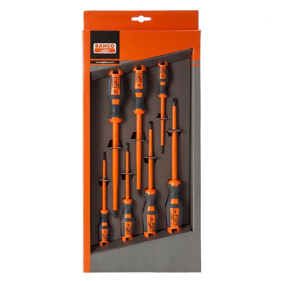 Bahco 219.605 Insulated Screwdriver Set 1000V 7 Pieces