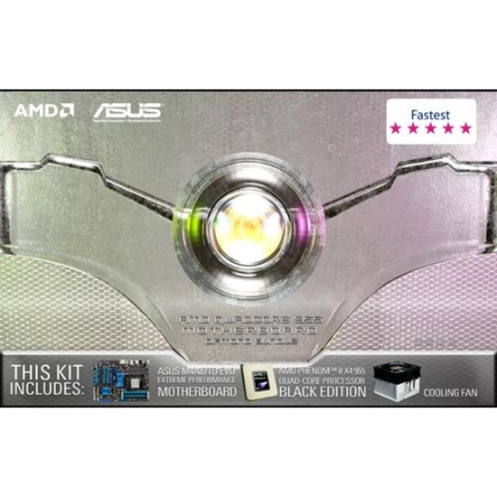 ASUS ''/ AMD Quad-Core 955 Motherboard Bundle - Asus M4A87TD EVO Motherboard, AMD Phenom II X4 955 Quad Core CPU, CPU Cooling Fan
