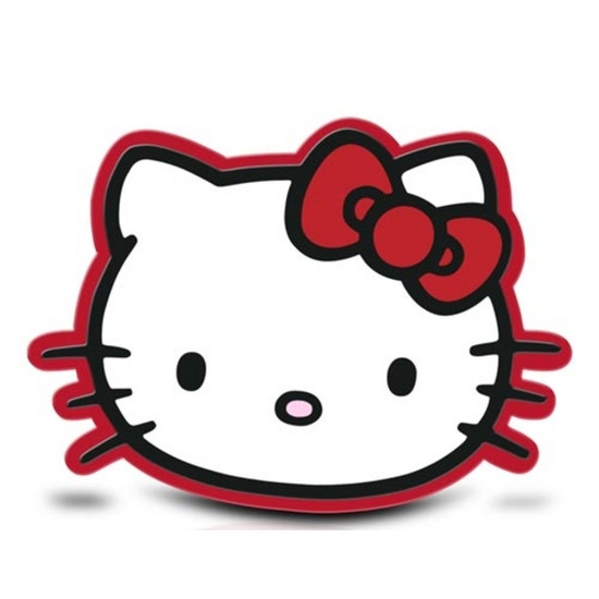 HELLOKITTY Red Bow Mouse Mat - Red & Black