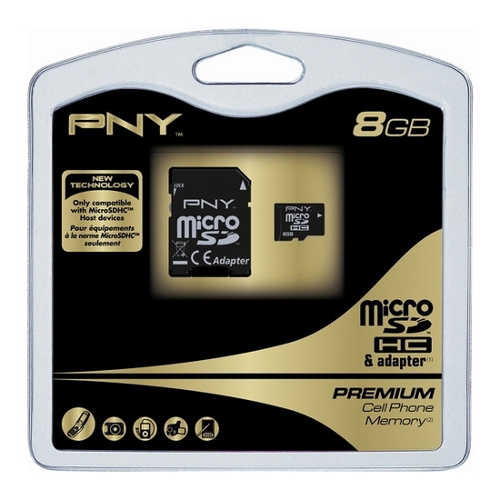PNY micro SDHC - 8GB