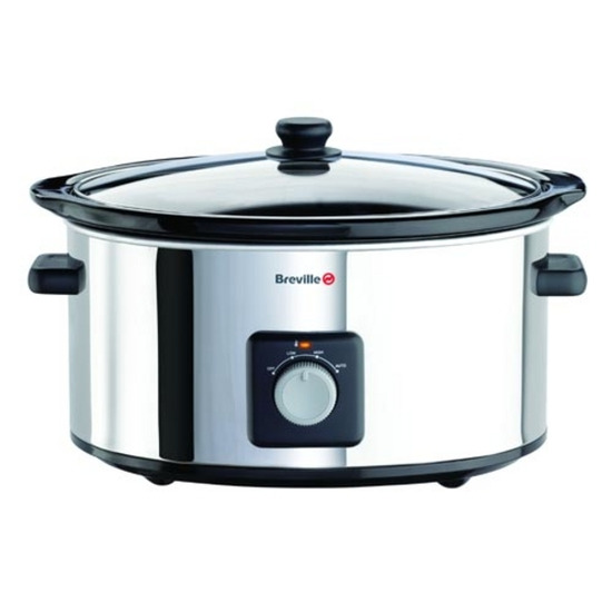 Breville VTP096 6.5 Litre Slow Cooker - Stainless Steel