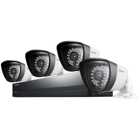Samsung SDS-P3042 Four-Camera Four-Channel CCTV Kit