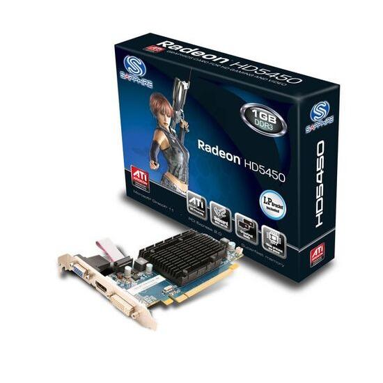 SAPPHIRE ATI Radeon HD 5450 PCI-E Graphics Card - 1GB