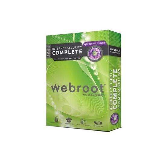 WEBROOT Internet Security Complete 2011 Premium