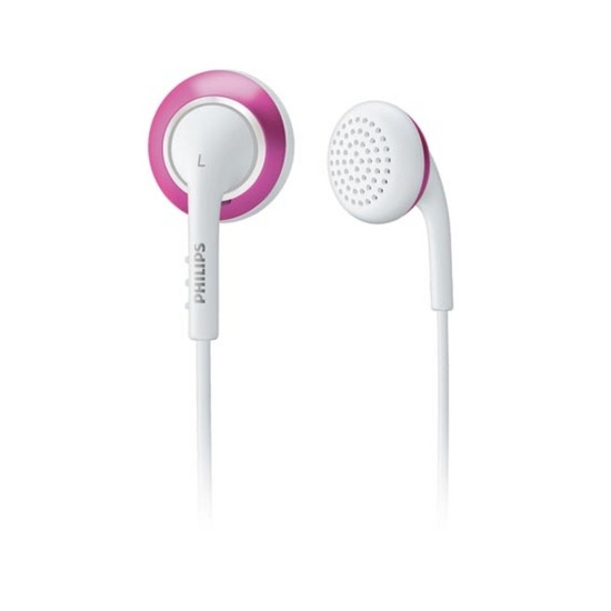Philips SHE2648/00 Colour Tunes Headphones - White and Pink
