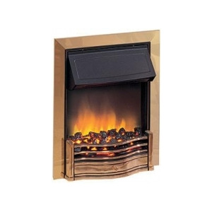 Photo of Dimplex Danesbury 2KW Electric Inset Fire DAN20BR In Brass Electric Heating