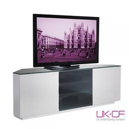 UKCF Milan White Gloss & Black Glass Corner TV Stand 15cm Reviews