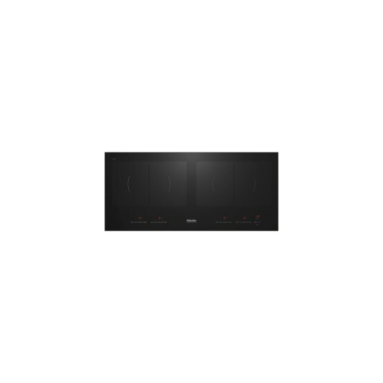 Miele KM6381 91.6cm 4 Zone Induction Hob With 4 PowerFlex Zones Black