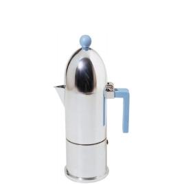 Alessi 'La Cupola' Espresso Coffee Maker - 30cl in Blue A9095/6 AZ