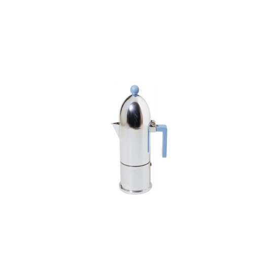 Alessi 'La Cupola' Espresso Coffee Maker - 30cl in Blue A9095/6 AZ