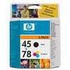 Photo of Original HP No.45 and No.78 Black and Tri-Colour (Cyan Magenta Yellow)  Printer Ink Cartridge Twinpack Ink Cartridge