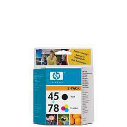 Original HP No.45 and No.78 black and tri-colour (cyan magenta yellow)  printer ink cartridge twinpack Reviews