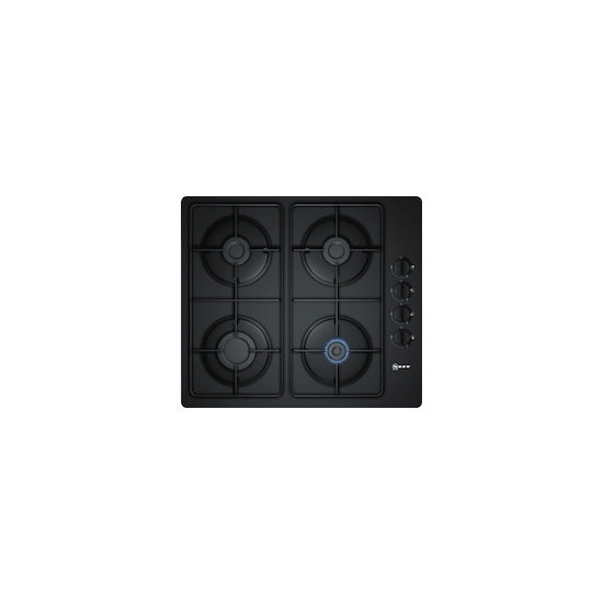 Neff T26CR48S0 Black glass 4 burner gas hob